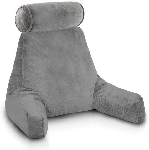 ComfySure Backrest Reading Pillow with Arms - Shredded Memory Foam