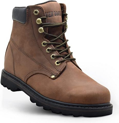 EVER BOOTSTank Men's Soft Toe Oil Full Grain Leather Work Boots Construction Rubber Sole