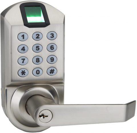 Fingerprint Door Lock, ARDWOLF A1 Keyless Biometric Keypad Door Locks with Reversible Lever and Automatic Locking, No Drills Needed