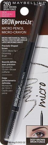 Maybelline Brow Precise Micro Eyebrow Pencil Makeup, Deep Brown