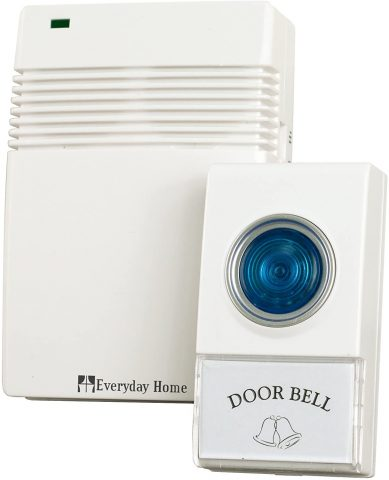 Voye 72-20488 Wireless Remote Control Doorbell with 10 Different Chimes