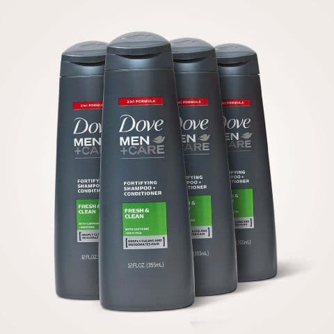 Dove Men+Care Fortifying 2 in 1 Shampoo and Conditioner for Normal to Oily Hair Fresh and Clean with Caffeine Helps Strengthen Thinning Hair 12 oz