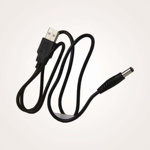 HUACAM HC05 3 Pack USB to 5.5 mm/2.1 mm 5 Volt DC Barrel Jack Power Cable