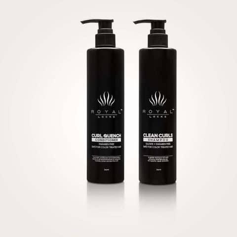 Royal Locks-Curl Cleansing Set - Clean Curls Shampoo & Curl Quench Conditioner-pH Balancing Shampoo
