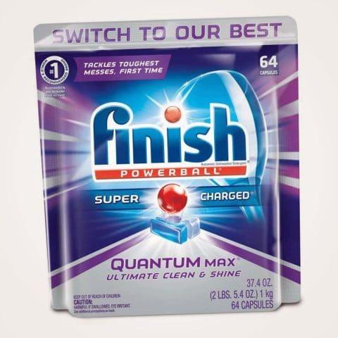 Finish Quantum Max Powerball, 64ct, Dishwasher Detergent Tablets