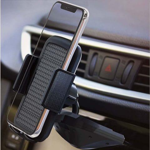 BESTRIX Cell Phone Holder for Car, CD Slot Car Phone Holder, Hands Free Car Mount