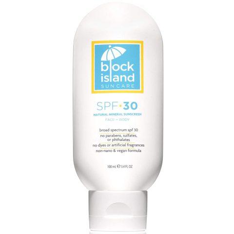 Block Island Organics - Natural Mineral Sunscreen SPF 30 - Broad Spectrum UVA UVB Protection